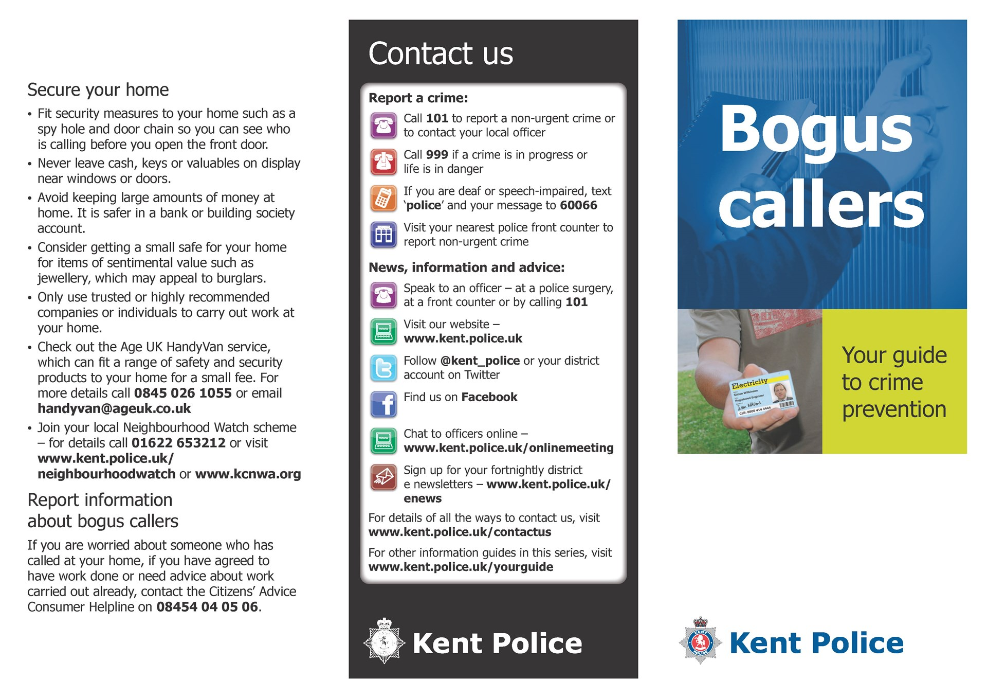 Dunton Green Parish Council Bogus Callers