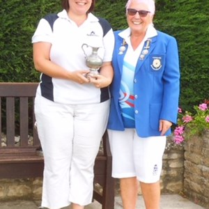 Two Wood Singles Runner Up M.Sykes with L.Dearlove
