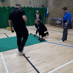 Avon giving great Coaching help to Daventry District Council Chairman with the Consort and David Bolt looking and learning