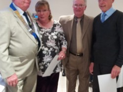 runners up Nowick, Jeannie Hutton, John Mitchell and Gordon Corby