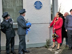 Washington History Society Blue Plaque: 607 Squadron RAF Usworth