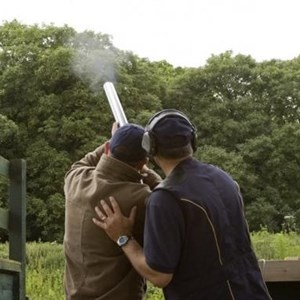 Clay pigeon shooting at Oakley Hall