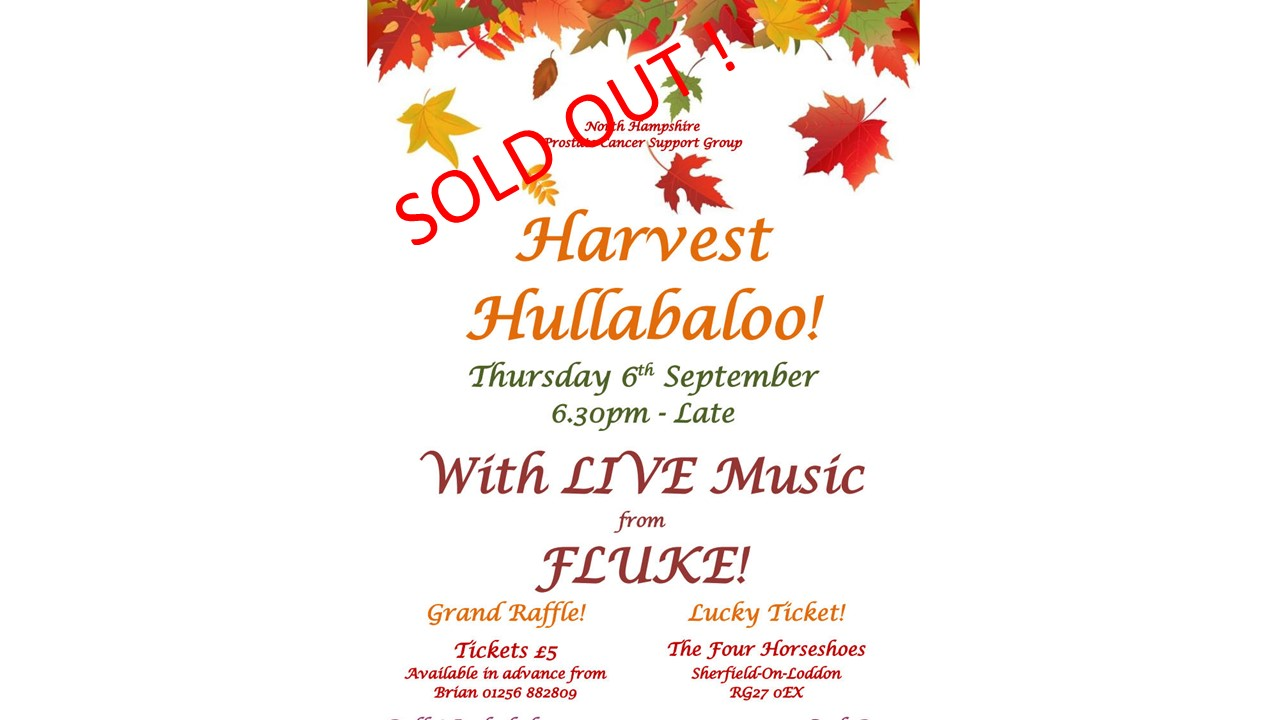 North Hampshire Prostate Cancer Support Group Harvest Hullabalo