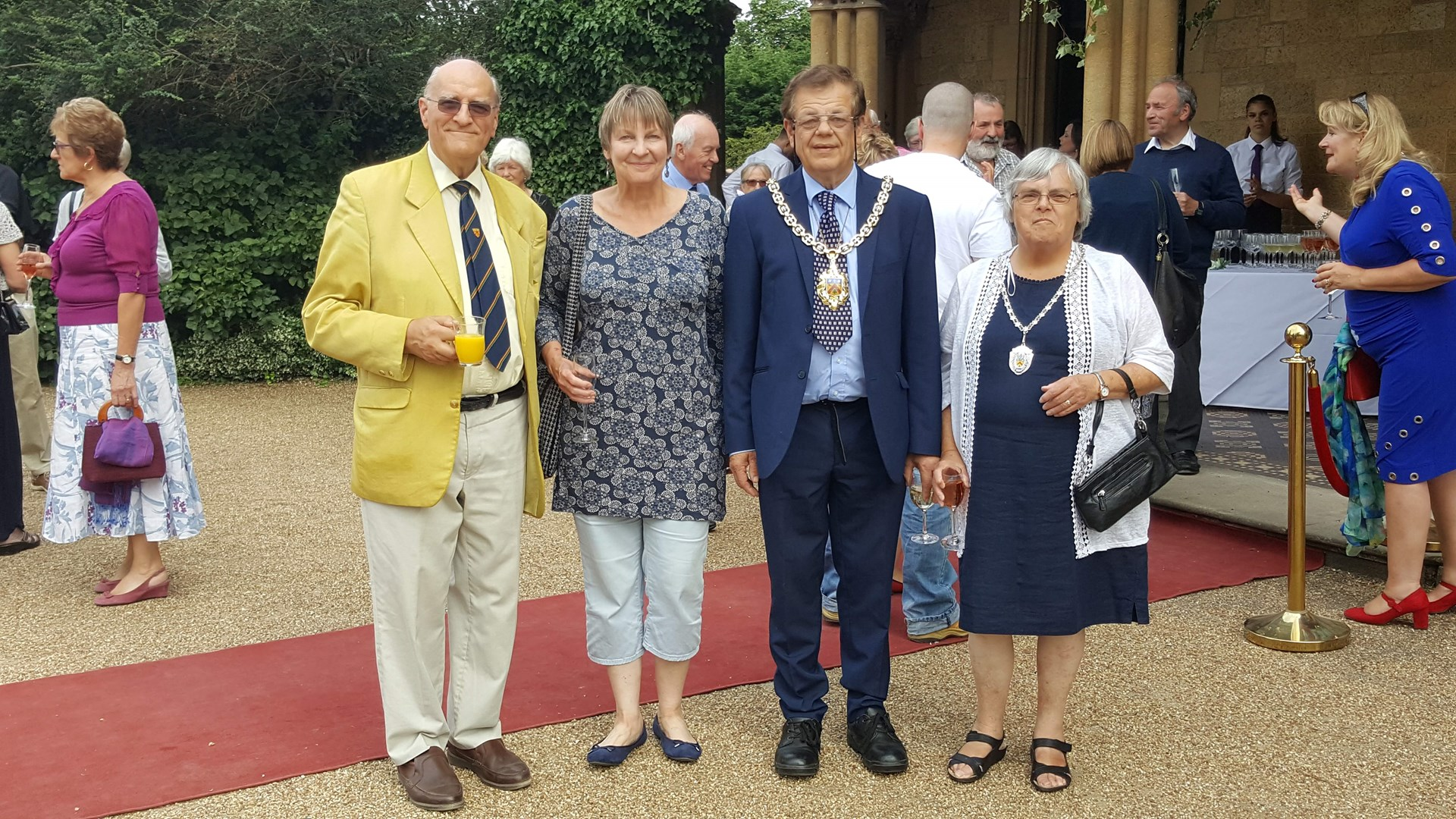 left to right Peter Worsley and Sarah Bamford, Vice Chairman and Chair, Mayor Roger Whyborn and Carole Whyborn