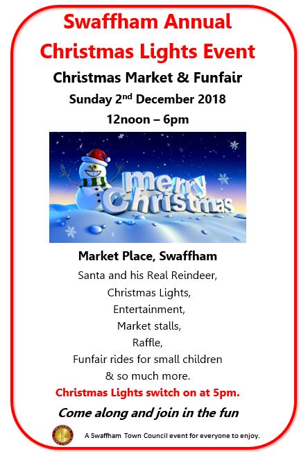 Swaffham Town Council 2018 Christmas Event 2