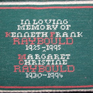 In memory of Kenneth and Margaret Raybould