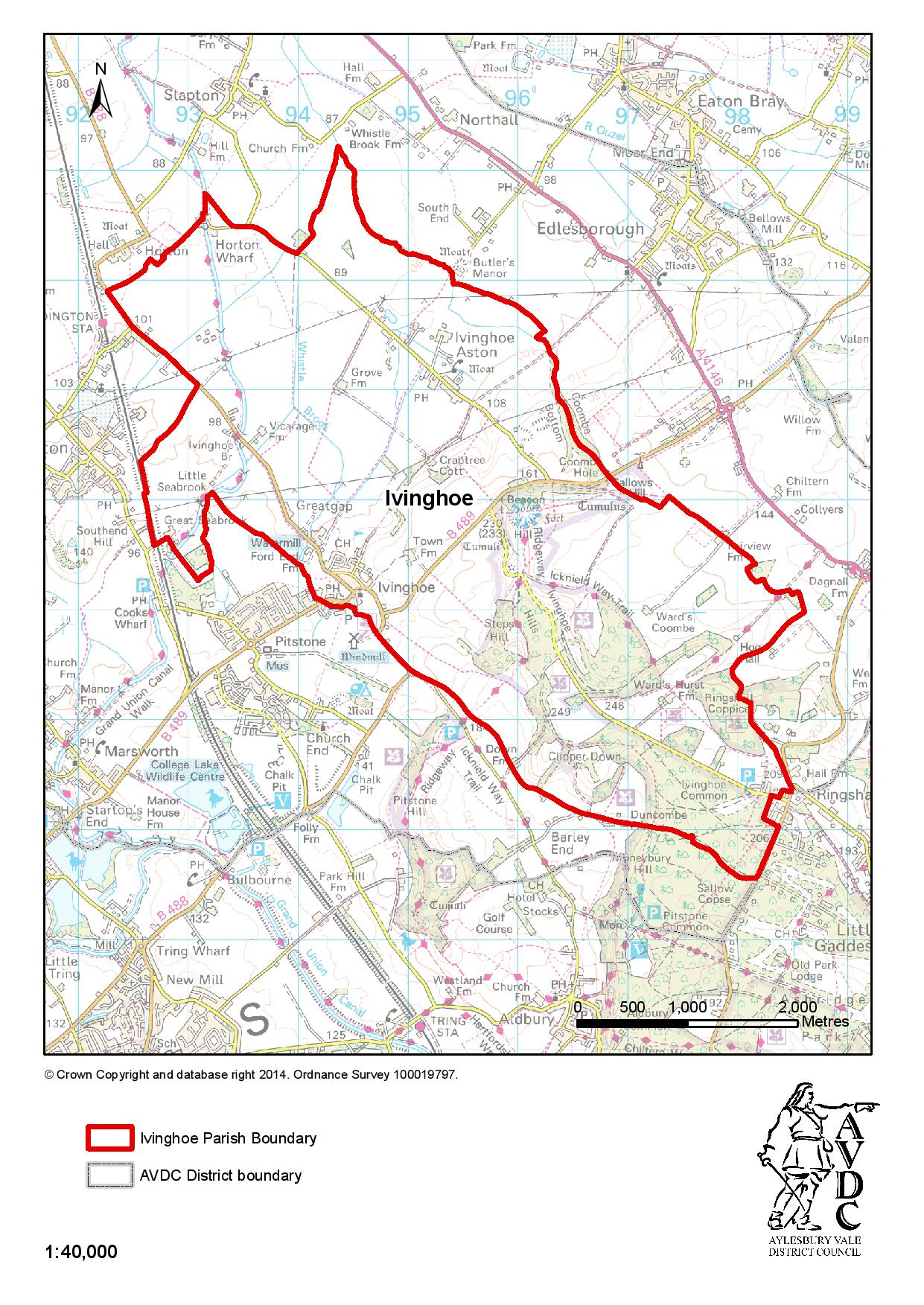 Ivinghoe Parish Council Parish Boundary Map