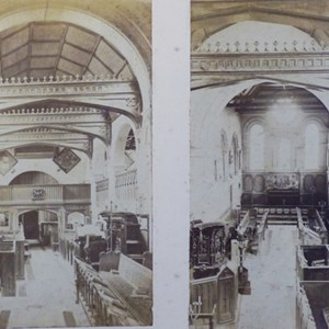 Church interior 1873 & 1875