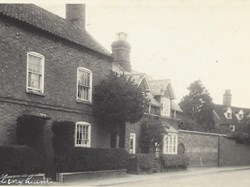 Low Street with Rutland House in the distance. The house to the fore since demolished