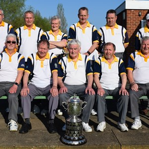 2017 County Cup Winners.    Eddie Kavanagh. Dave Moss. Paul Keicher. Craig Guthrie. Rob Arthur. Frank Hannigan.           F/r Colin Campbell. Stewart Minchew. Dave Boulton (c) Dave Minchew. Rod Trower. Ivan Robins (not on photo)
