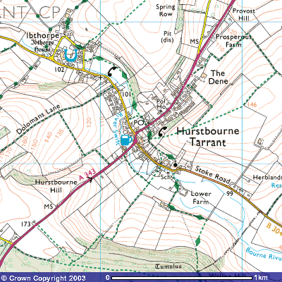 Map for Hurstbourne Tarrant & Ibthorpe