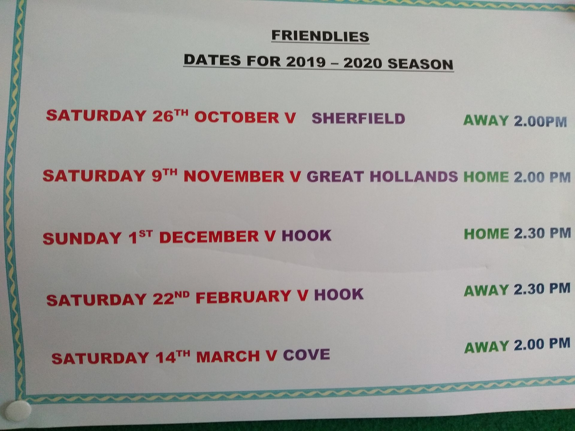 Fleet United Bowling Club Short Mat Friendlies