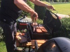 It takes a lot of concentration, this barbecuing!