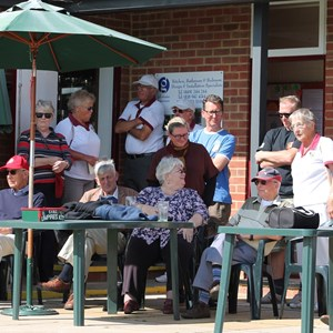 Spectators enjoying the sunshine and matches