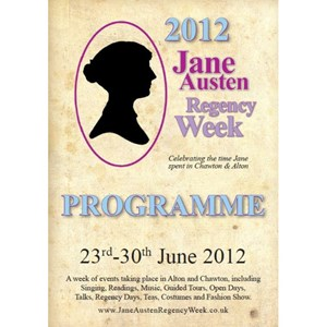 2012 Jane Austen Regency Week Programme