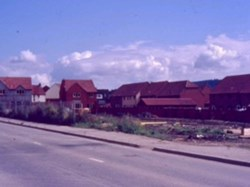 1986 From Hatherley Road towards the new houses on the fields