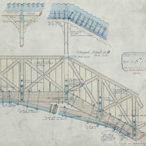 Detail of 1894 plan to show bracing of corner struts