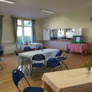Main Hall set up for Macmillian Coffee Morning