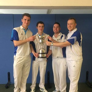 County Fours Champions 2016 - Lee Calver,  Phil Gregory,  Christian Allum & Martin Heitzman