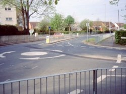 1986 The reorganised junction of Alma Road and Shelburne Road