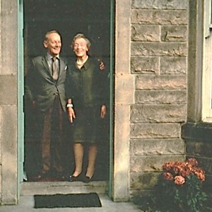 Percy Batchelor and Helen Laird (Ruby Batchelor's sister)   The Laird House, Ardmore, Corbiehill Avenue, Edinburgh.