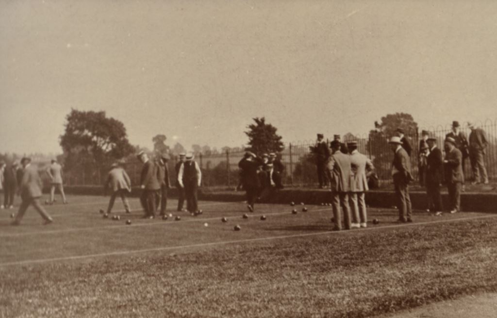 Opening of Rugby Bowling Club green, Hillmorton Road Recreation Ground, on July 5th 1911