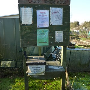 Noticeboard for allotment holders