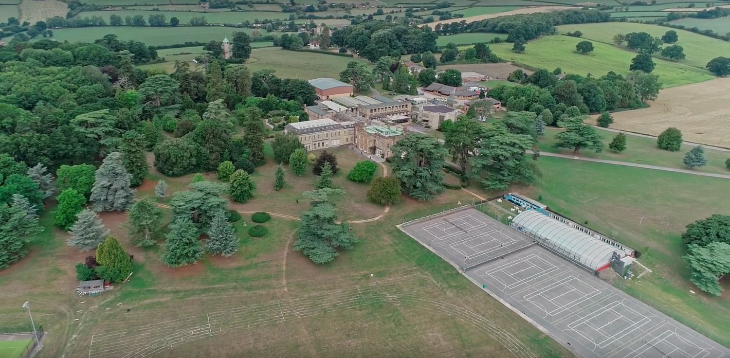 Aerial View of Leweston School