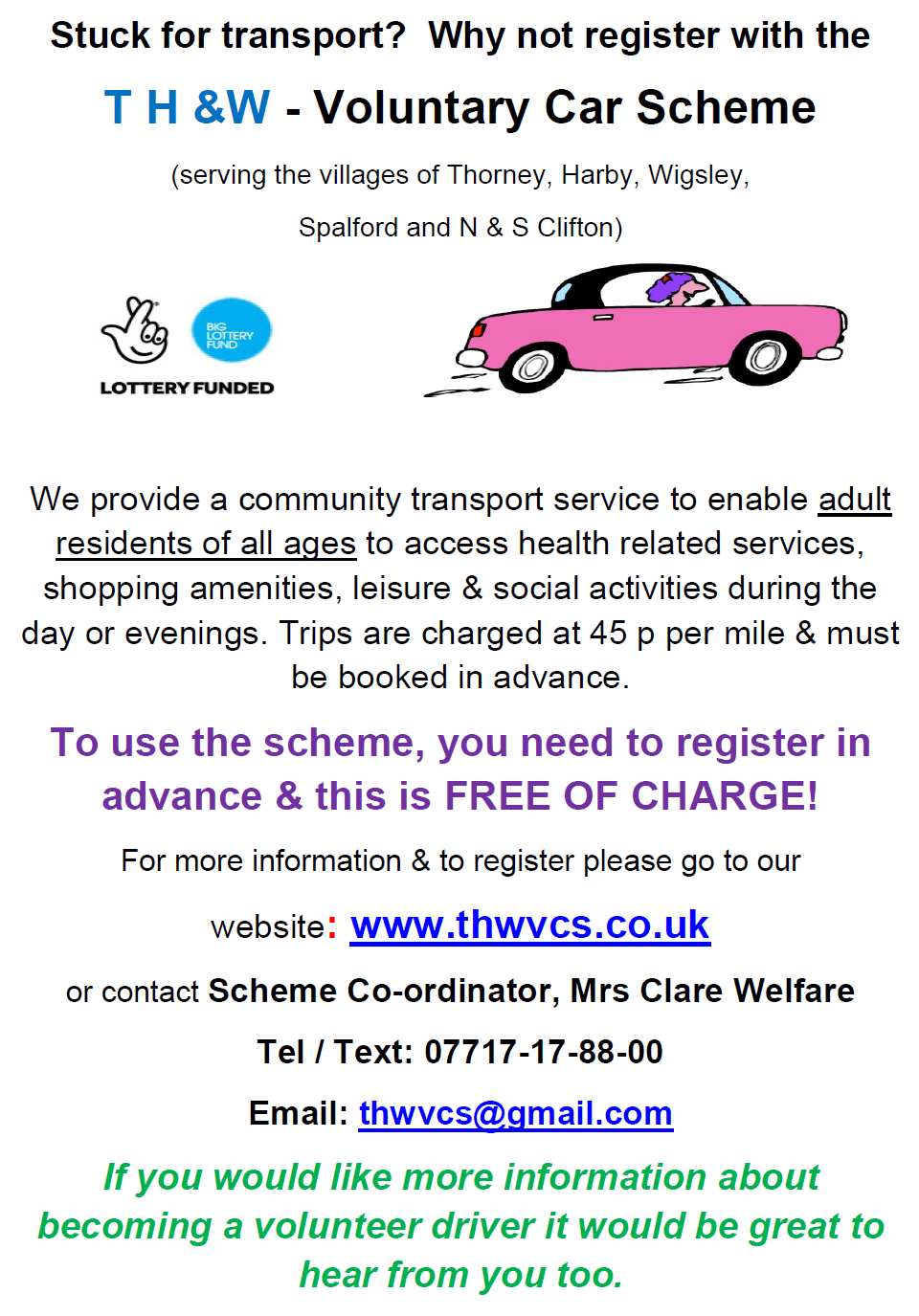 Harby Parish Council Community Transport
