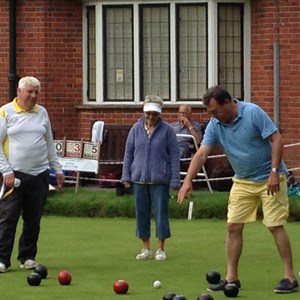 Club Triples 2015 - Our shot, Colin Bingley, Charlie Graham, Jo Shaw and Yvonne Dawson