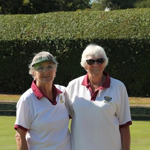 Ladies Singles Wendy Cross v Sylvia Blackmore