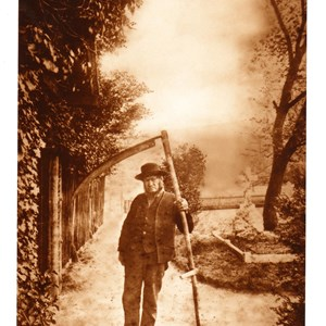 Edward Stretton, aged 83, sexton for 40 yrs. Mickleham May 1893