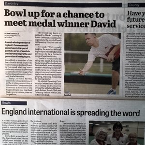 "Local paper ""Daventry Express"" coveerage before David's visit"