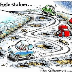 Pothole Cartoon