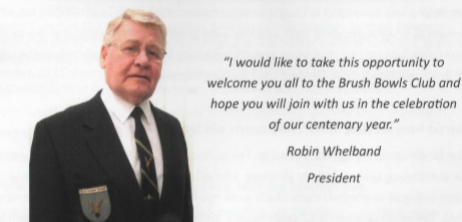 Welcome Message from the 2016 President Robin Whelband