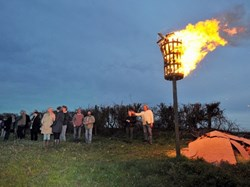 The Queen's 90th birthday beacon, picture by Shaun Tierney