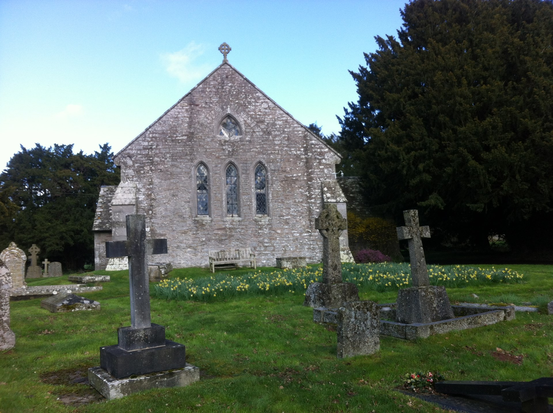 Church and churchyard in spring
