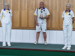 Mixed Triples runners up - Shirley  S - Hall, Brian Lees & Steph Greenwell