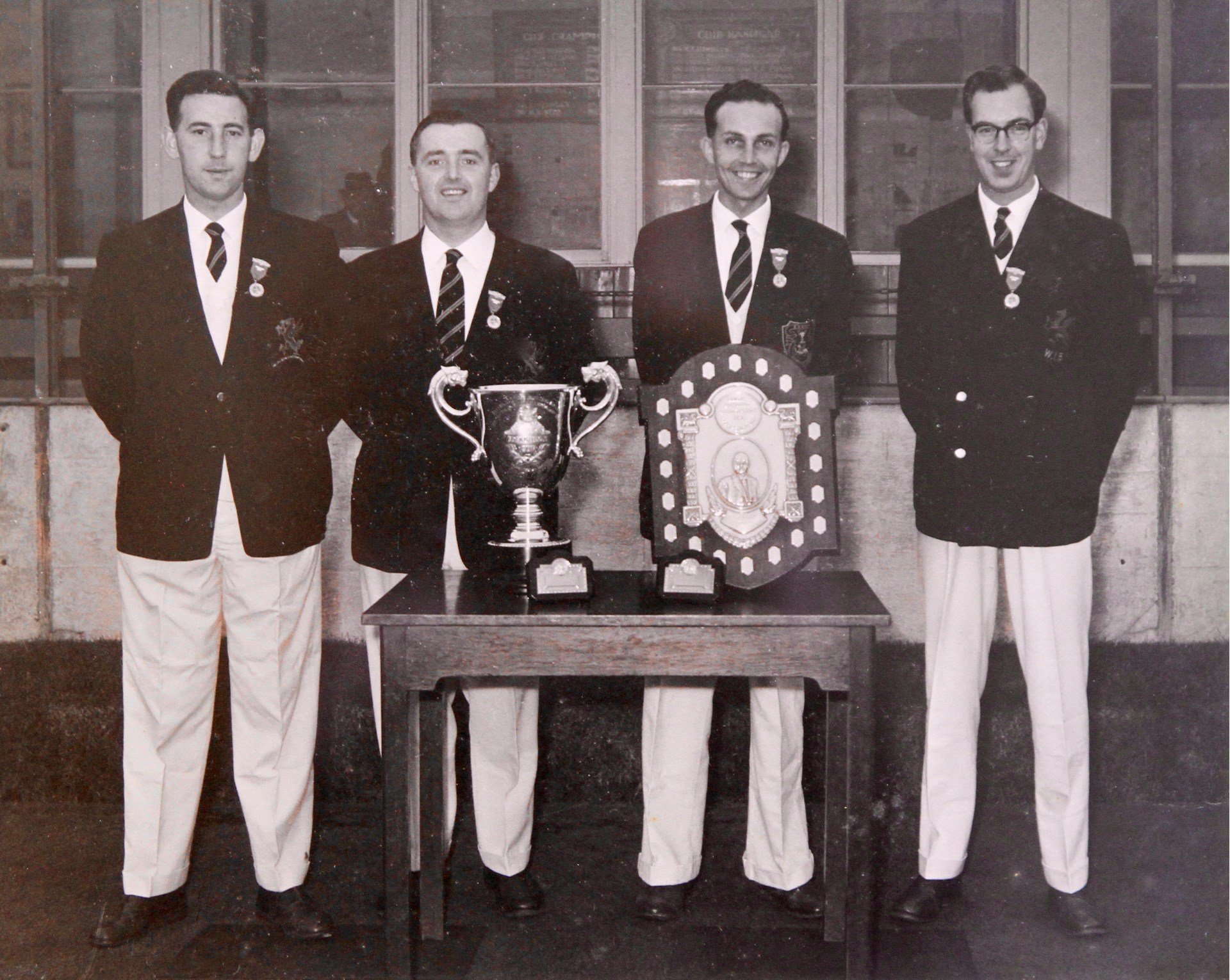 British Isles and Welsh Fours Winners 1963     From left to right: G Humphries, R. Thomas, J.A. Morgan & J.R. Evans