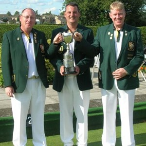 COUNTY TRIPLES CHAMPIONS 2013 :  John McAndrew, Paul Seymour, Don Savage