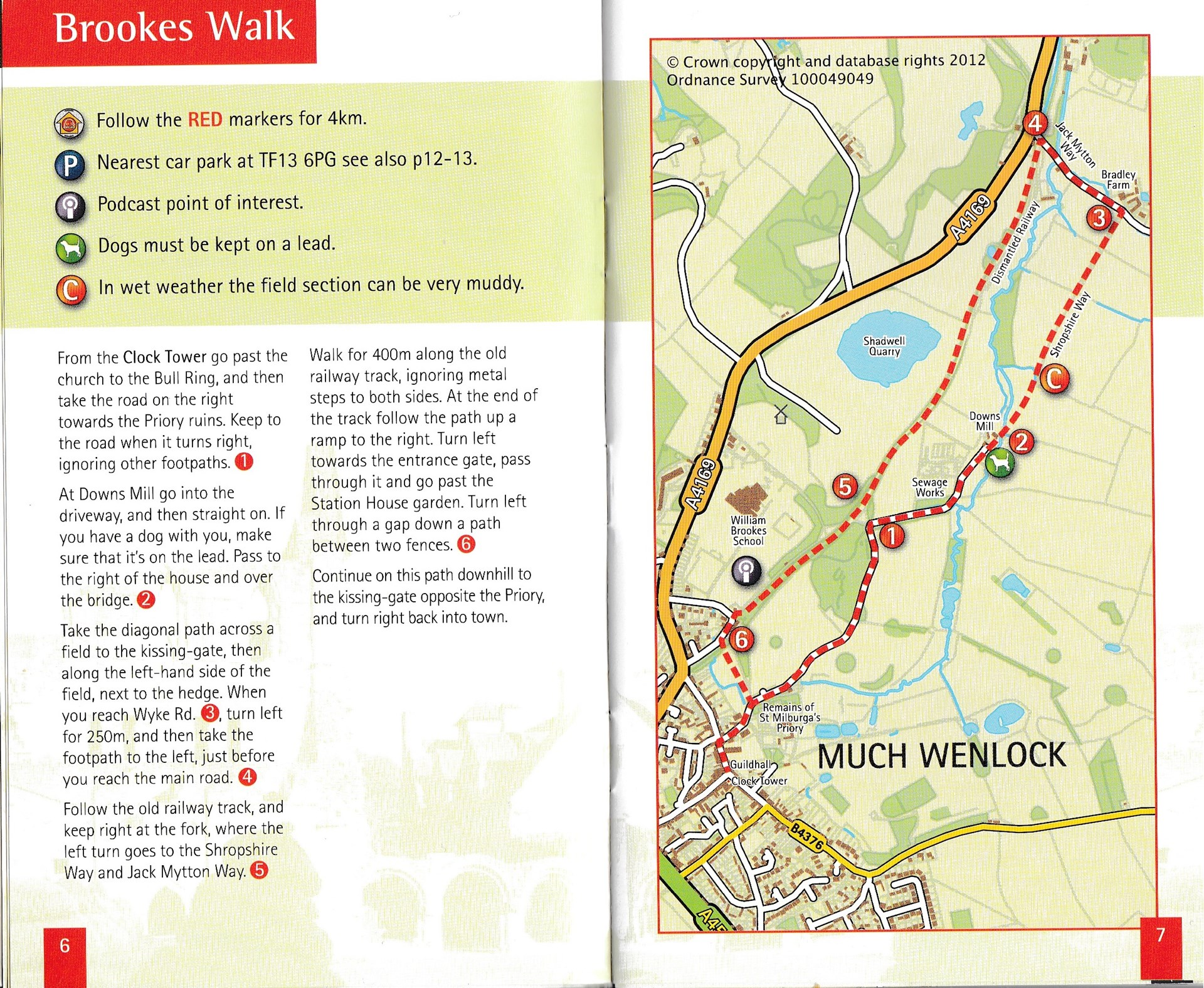 Brookes Walk Route & Map