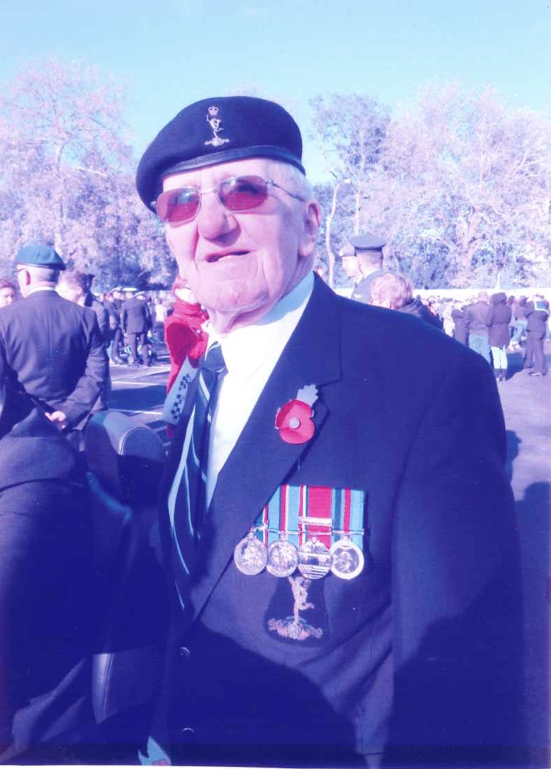 Geoff at a recent Remembrance Sunday service