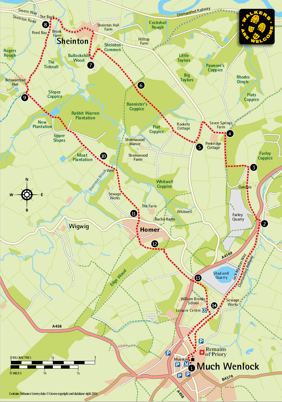 Sheinton Walk Route Map