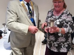 Jeannie Hutton, Ladies 2 Wood winner