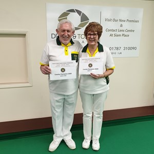 Federation Mixed Pairs Winners - Richard Ashby & Shirley Cousins.