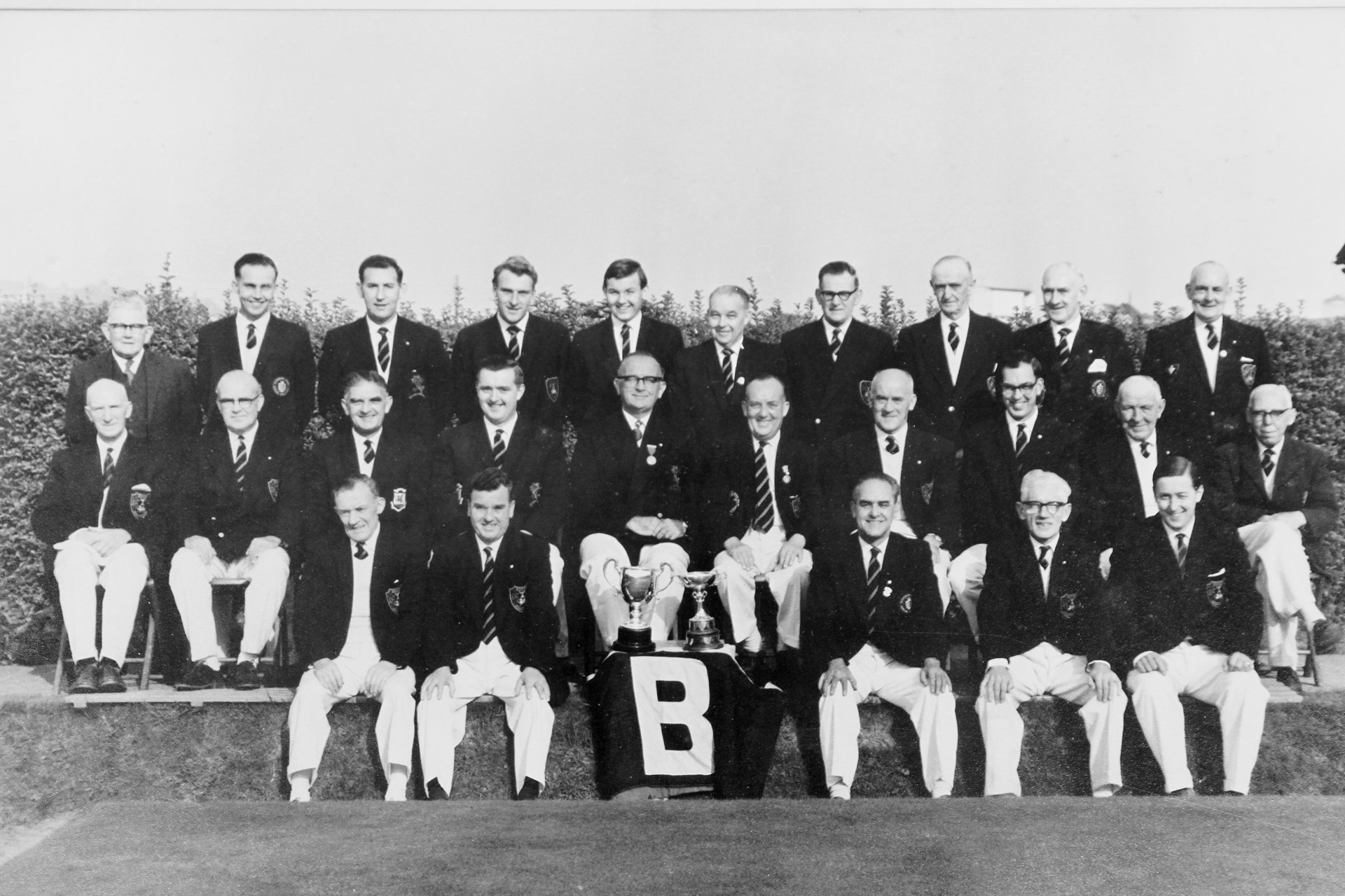 Barry Athletic Bowls Club Welsh Private Greens Champions 1975