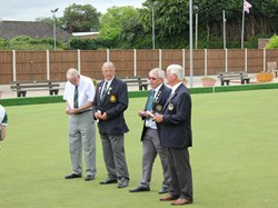 President Alan hands over the green to President William Greenway of Worcester BA