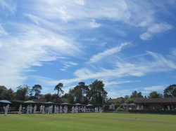 The beautiful setting of Adastra Bowling Club