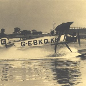 Avro seaplane off its factory 1930s