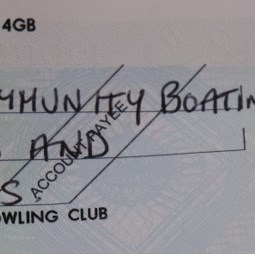 Actual cheque presented